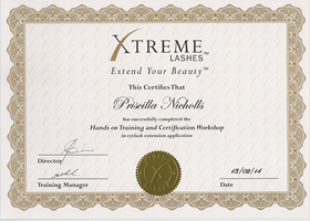 Certified Xtreme Lash Professional